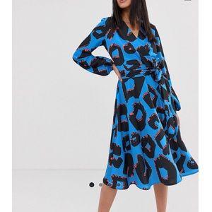 Asos Flounce London Tall Wrap Dress